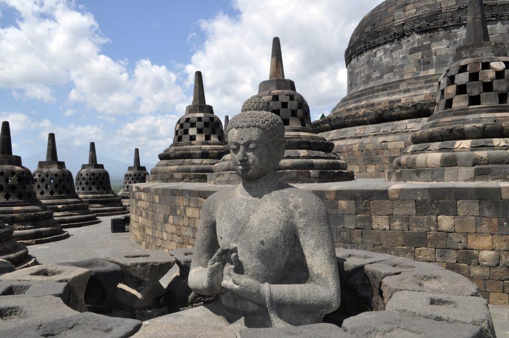 Buddhist temple Borobudur. Yogyakarta. Java, Indonesia