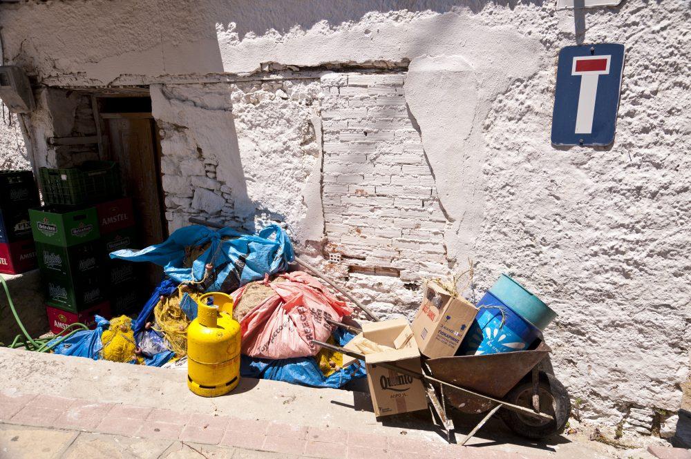 Garbage heap on Samos