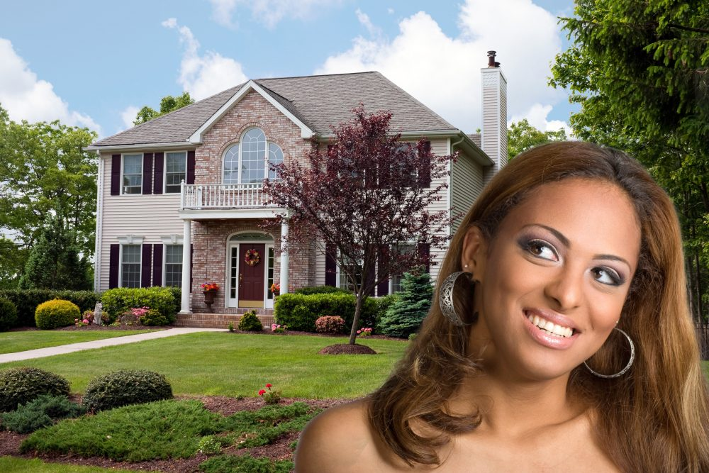 A young woman dreams of owning her own home.